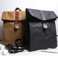 火部落原创设计双肩包水洗牛皮纸背包2018新款挎包简约复古手工包